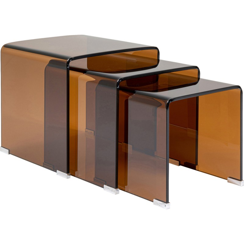 contemporary glass side tables