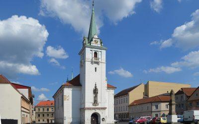 Busta Karla Otčenáška ve farním kostele Narození Panny Marie v Trmicích