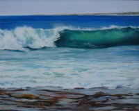 Mesmerising Wave Break - Oil - 40.6 x 50.8 cms