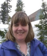 Karen Barnett at Paradise, Mount Rainier