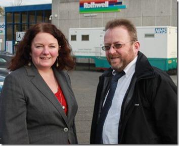 Karen Bruce and David Nagle at Rothwell sports centre