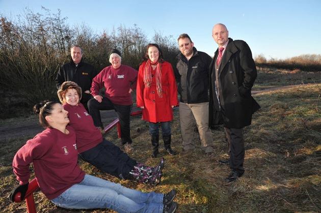 Mark Dobson, Karen Bruce and David Nagle at Rothwell Country Park