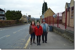 Cllr Karen Bruce, Angela Kellett and Bill Hinsliffe at Woodlesford Primary School