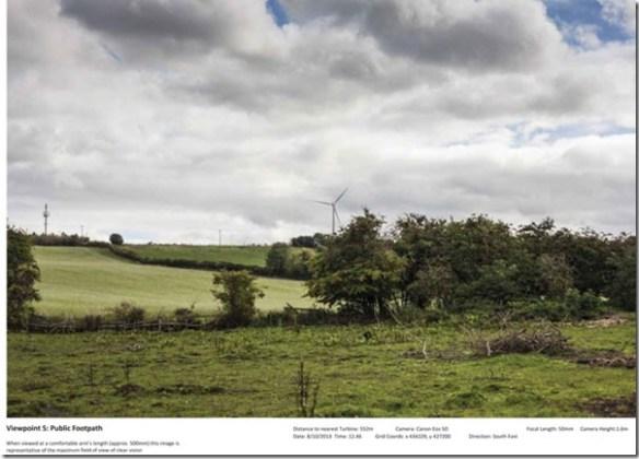 Swithens Farm, Rothwell wind turbines artists impression