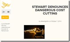 Cllr Stewart Golton Lib Dem blog