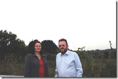 Cllrs Karen Bruce and David Nagle fighting green field development in Rothwell