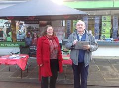 Petition on Christmas stall