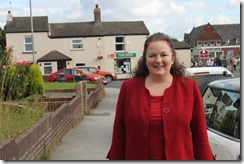 Councillor Karen Bruce in Carlton village photo