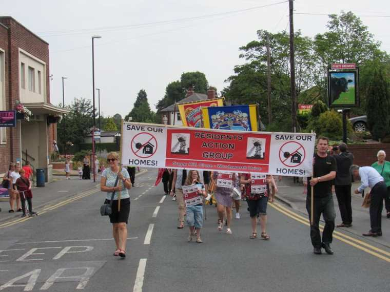 Save Our Homes march through Rothwell with the NUM photo