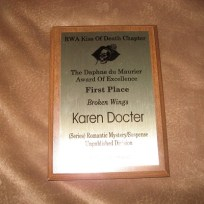 KOD Daphne Winning Plaque
