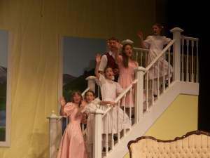 "The Von Trapp children say ""So Long, Farewell...."""