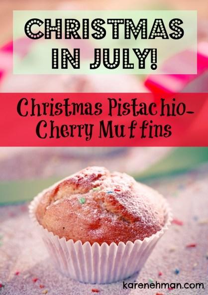 Christmas Pistachio cherry muffins