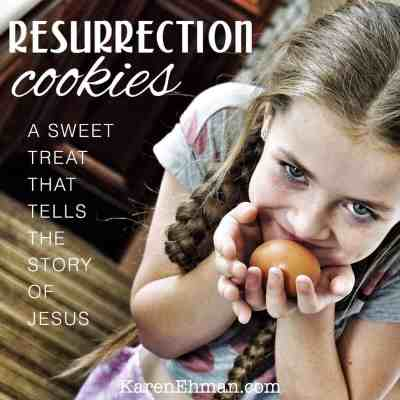 Resurrection Cookies are a sweet treat that tells the story of Jesus the night before Easter.