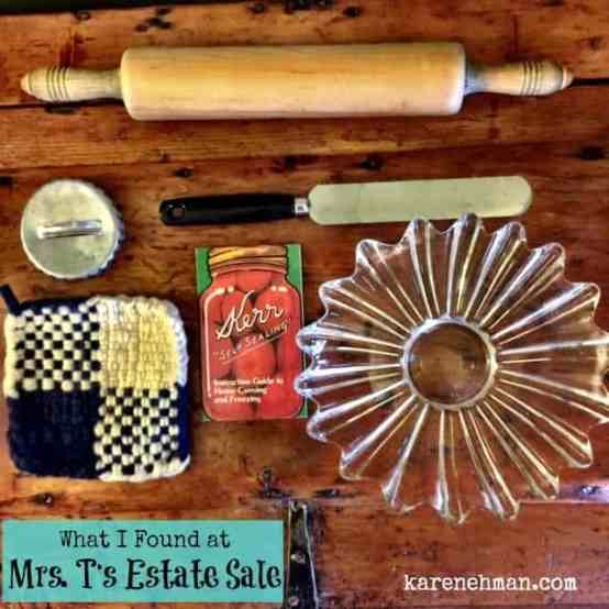 Kitchen gadgets and decades of love. What I found at Mrs. T's estate sale. {karenehman.com}
