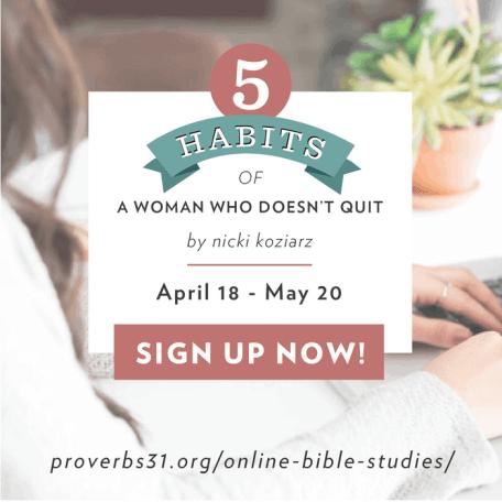 5 Habits Book info and Bible Study signup at KarenEhman.com