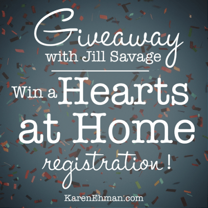 Giveaway at KarenEhman.com with Jill Savage