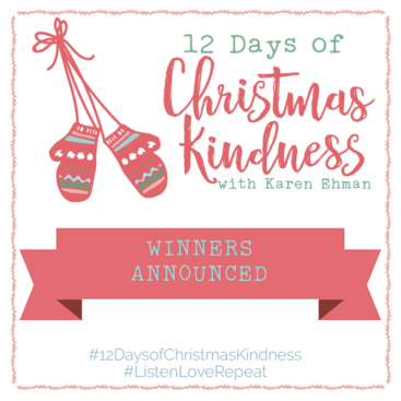 Winners announced for #12DaysofChristmasKindness Giveaways