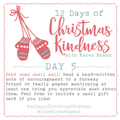 Join Karen Ehman for 12 Days of Christmas Kindness and Giveaways!