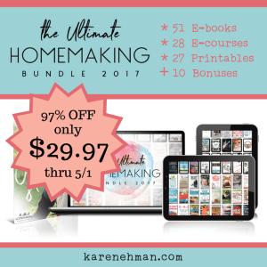 The Ultimate Homemaking Bundle is here!