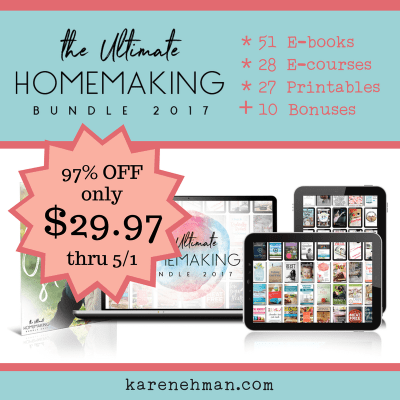 Ultimate Homemaking Bundle 2017 at karenehman.com