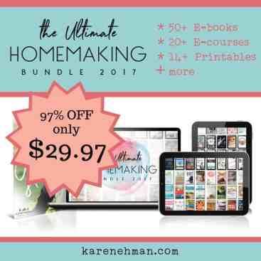 Flash Sale on The Ultimate Homemaking Bundle