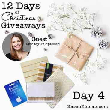 12 Days of Christmas Giveaways – Day 4