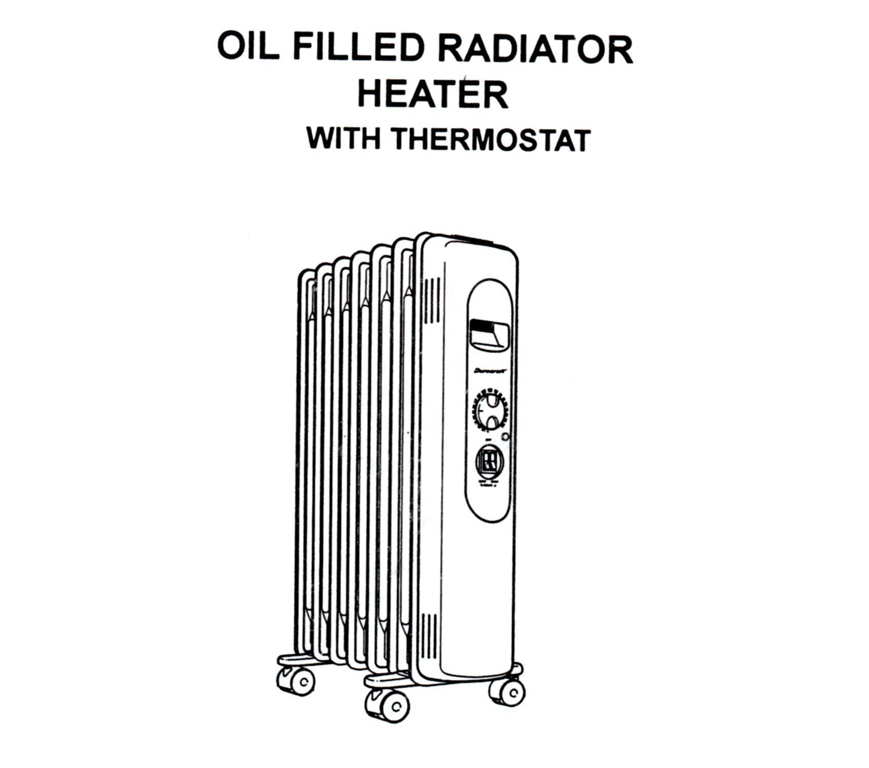 Duracraft Oil Filled Radiator Heater Model Cz 600 Owner S