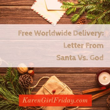 Free Worldwide Delivery: Letter From Santa Vs. God, Adobe Spark
