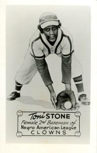 Photograph of Toni Stone, courtesy of the Negro Leagues Baseball Museum, Inc.