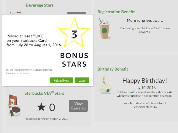 Starbucks Card Reload Offer Creativeletter
