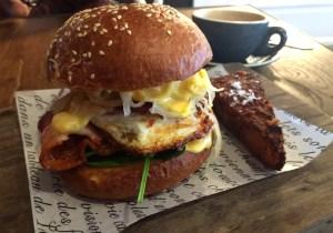 The Rueben Breakfast Burger