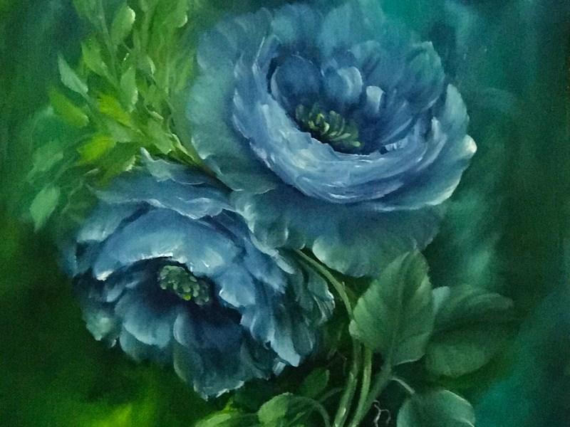 Romantic Blue Roses