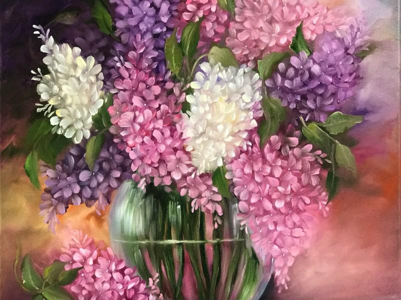 Lilac Glass Vase