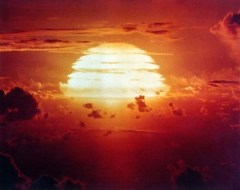 Picture: A U.S. government photograph of Operation Redwing's Apache nuclear explosion on July 9, 1956.