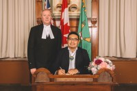 Historic Treaty Recognition Added to MPP's Oath of Office Taken Also in Oji-Cree