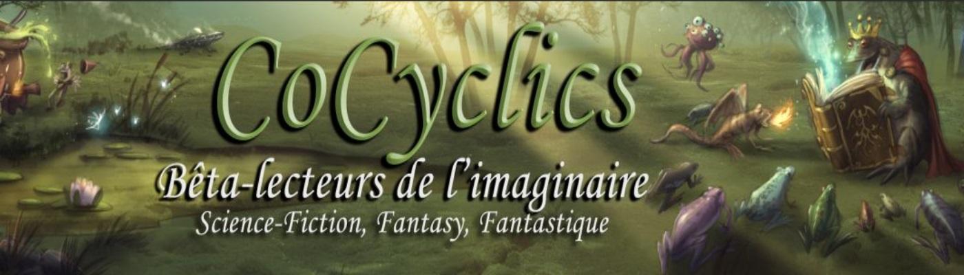 Image décorative : bannière du forum Cocyclics, présentant une assemblée de grenouilles écoutant un roi grenouille raconter une histoire