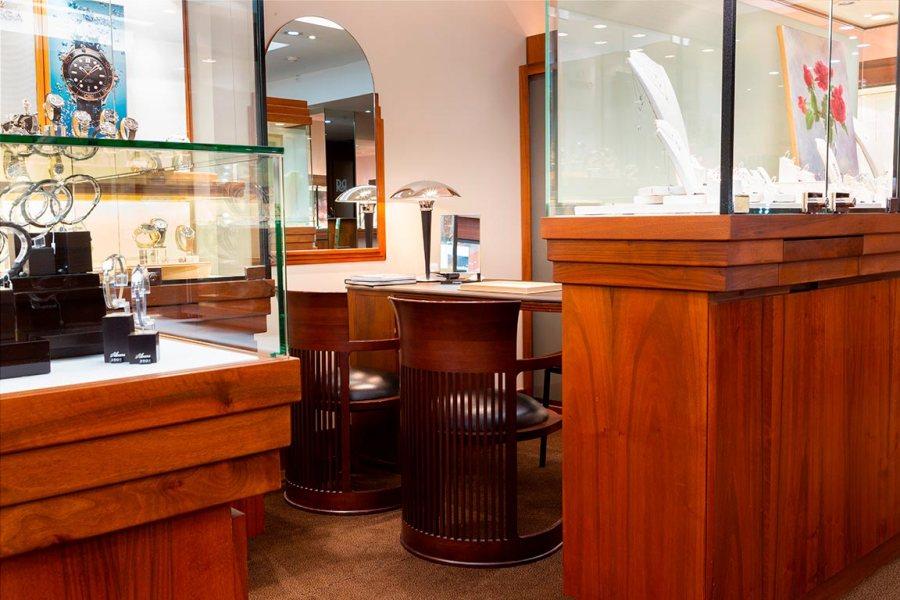 Salon d'accueil de la bijouterie