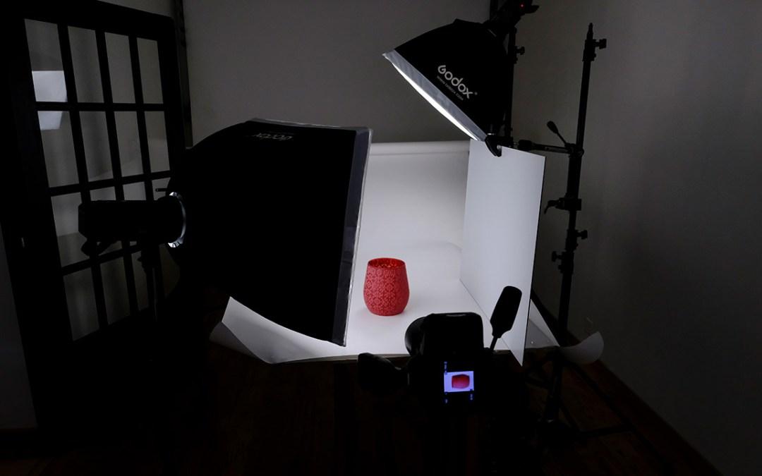 Packshot catalogue sur fond blanc
