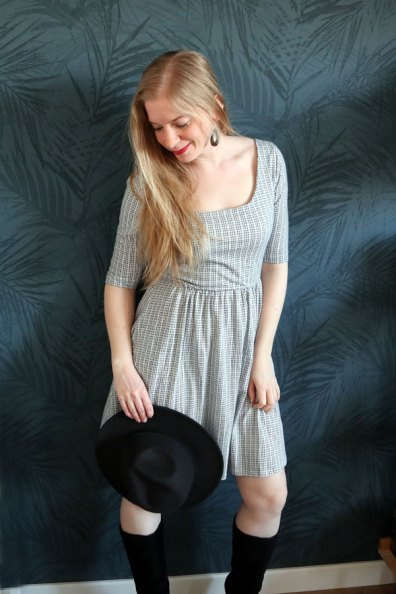 Boho jurkje met hoed