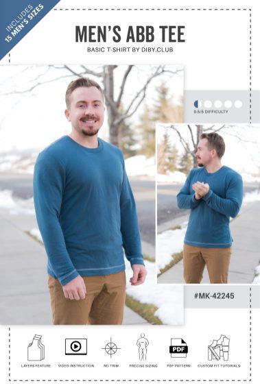 Gratis t-shirtpatroon mannen