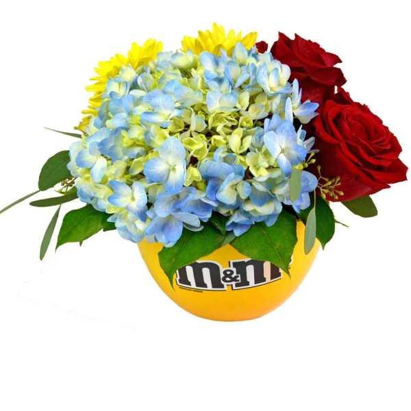 m&m Candy Dish Bouquet
