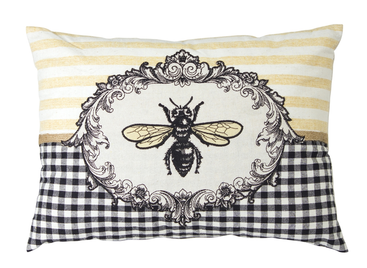 honey bee accent pillow