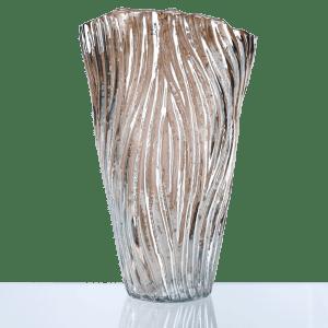 """14"""" Wave Glass Vase"""