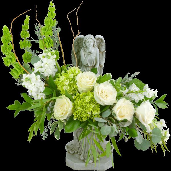 Angelic Bird Bath Bouquet