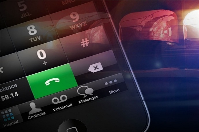 Cell Phone with Police Lights_-1940587340484491152