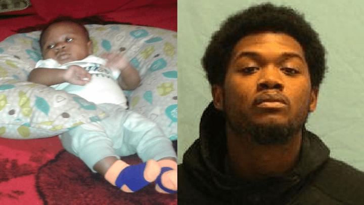 Brycen Davis, 3 months old (left), Brandon Davis, 22 years old (right)