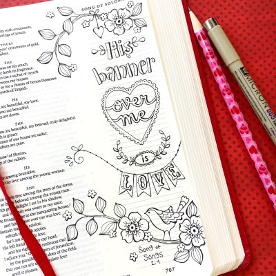 Bible Journaling – Using Color-Your-Own Bookmarks As Tracers