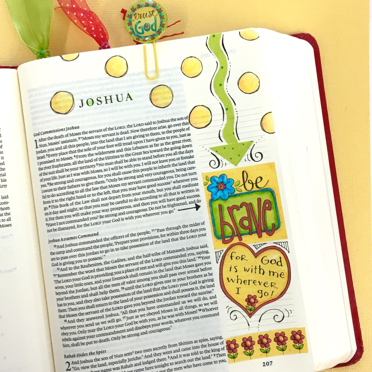 Joshua Bible Journaling Tutorial - Print your own stickers