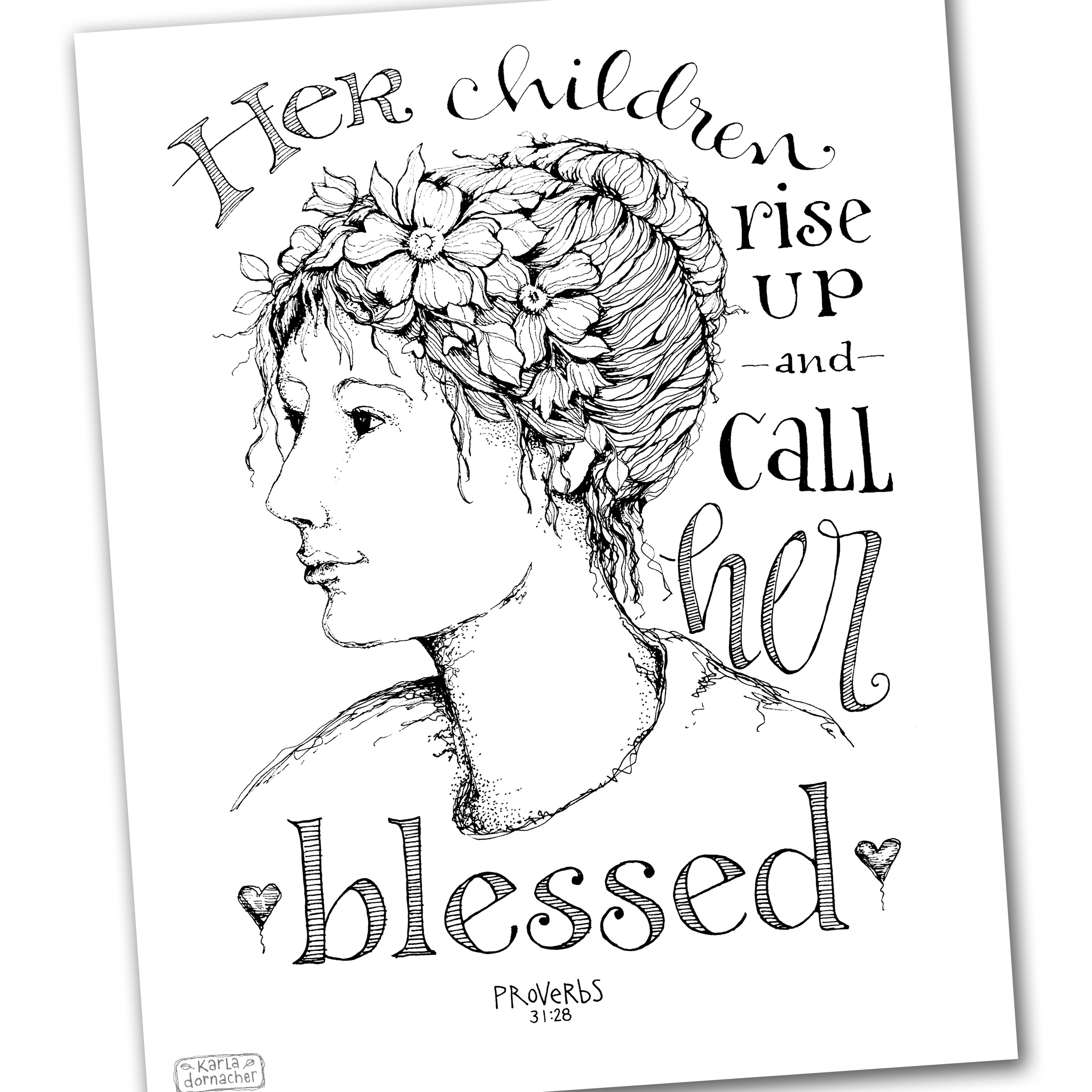 Call Her Blessed Proverbs 31 Coloring Page