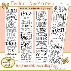 Easter Color-Your-Own Bible Journaling Bookmarks